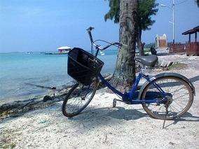 Sepeda yang kami gunakan untuk menjelajahi pulau Tidung.