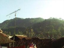 Suasana pagi hari di Kampung Gandasoli.