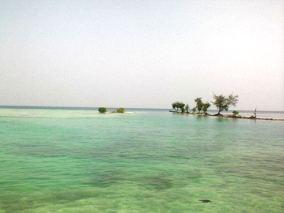 Perairan Pulau Tidung yang jernih.