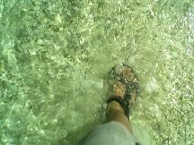 Perairan Ujung Genteng yang jernih.