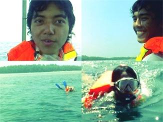 Bersnorkeling ria.