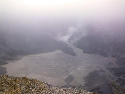 Kawah Ratu, kawah terbesar di Tangkuban Parahu.