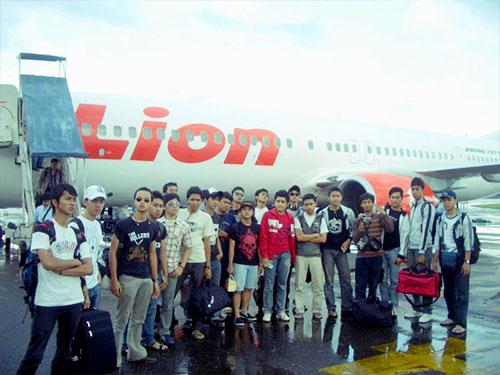 Mendarat di Kalimantan Selatan