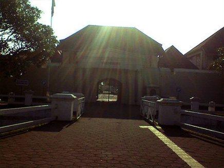 Benteng Vredeburg di pagi hari.