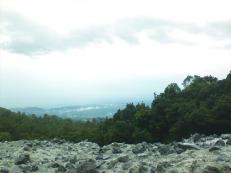 Pemandangan Kota Bandung dari Kawah Domas.