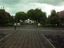Suasan taman di dalam museum.